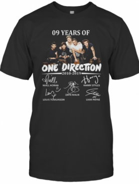 09 Years Of One Direction 2010 2019 Signatures T-Shirt