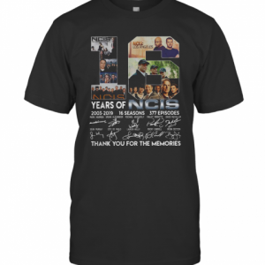 16 Years Of NCIS 2003 2019 16 Seasons Thank You For The Memories T-Shirt