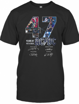 47 Years Of 1973 2020 Acdc Band Members Signatures T-Shirt