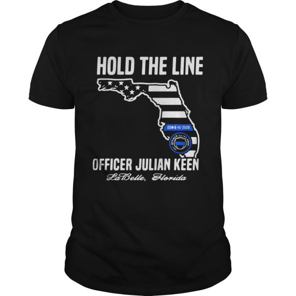 Hold The Line Officer Julian Keen Jabette Florida shirt