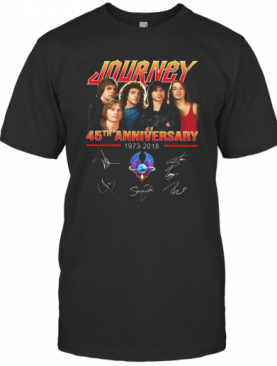 Journey 45Th Anniversary 1973 2018 Member Signatures T-Shirt
