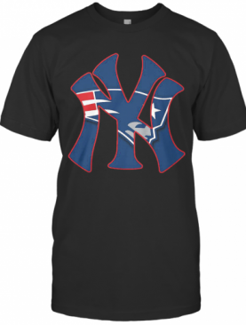 New England Patriots Inside New York Yankees T-Shirt