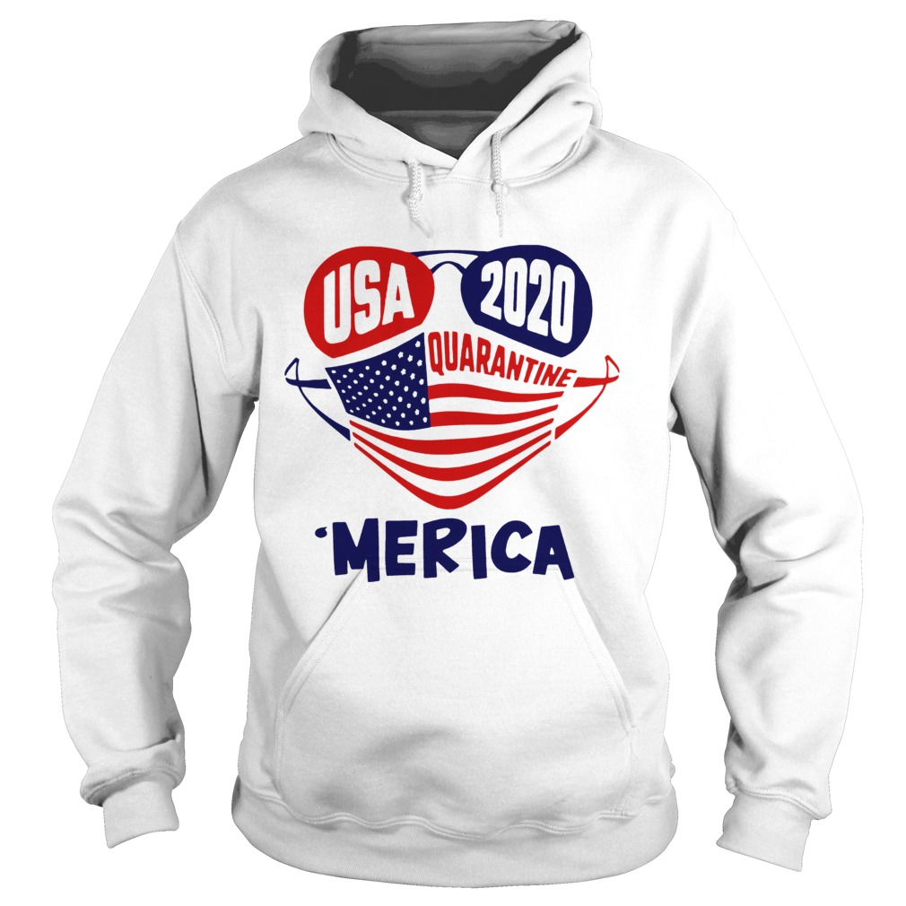 USA 2020 4th Of July Merica Quarantine Hoodie