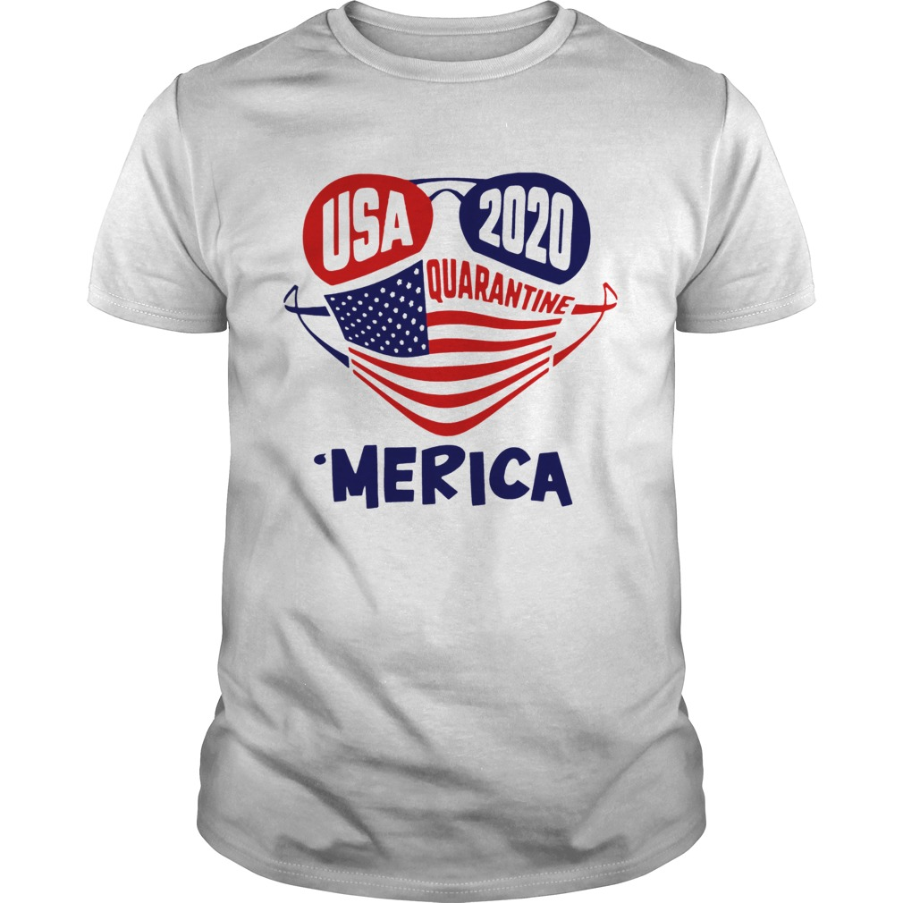 USA 2020 4th Of July Merica Quarantine Unisex