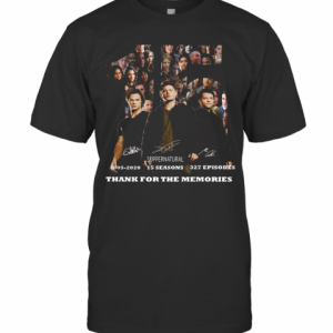 15 Years Of Supernatural Thank You For The Memories T-Shirt