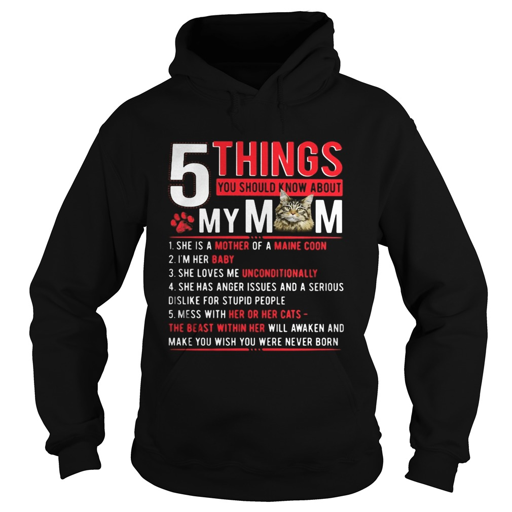 5 Things you should know about my mom cat paw Hoodie