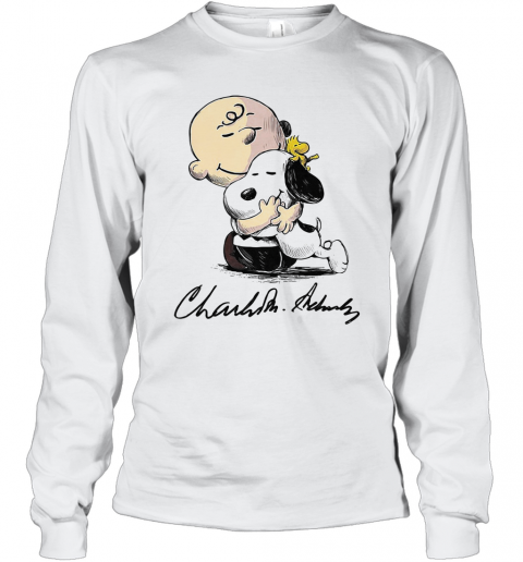 Charlie Brown Snoopy And Woodstock Art Signatures T-Shirt Long Sleeved T-shirt