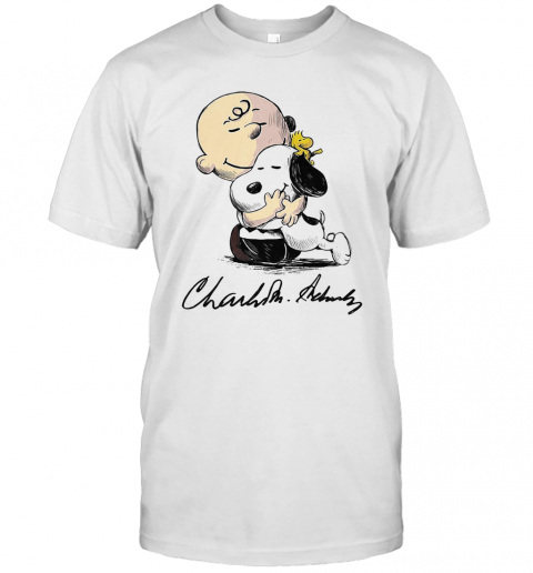 Charlie Brown Snoopy And Woodstock Art Signatures T-Shirt