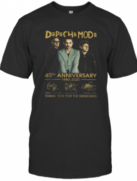 Dpch Mod 40Th Anniversary 1980 2020 Thank You For The Memories T-Shirt