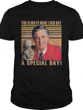 Fred rogers you always make each day a special day vintage retro shirt