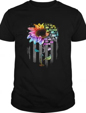 Lgbt sunflower you are my rainbow bus american flag independence day shirt