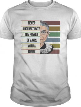 Never Underestimate The Power Of A Girl With A Book shirt