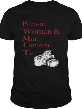 Person woman and man camera TV photographer shirt
