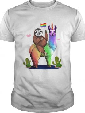 Sloth Riding Llama Lgbt Gay Lesbian Pride 2020 shirt
