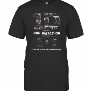 10 Years Of One Direction 2010 2020 Signatures T-Shirt