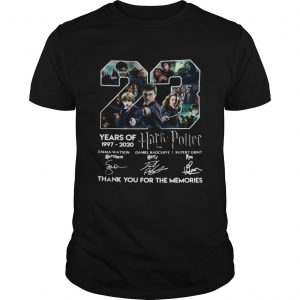 23 years of 1997 2020 harry potter thank you for the memories signatures shirt