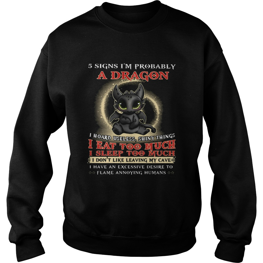 5 Signs Im Probably A Dragon Toothless Sweatshirt