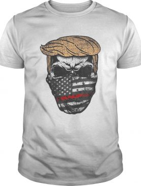 Donald trump skull mask back the red american flag independence day shirt