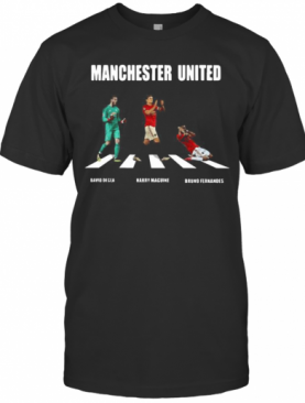 Manchester United Players Crossing The Line T-Shirt
