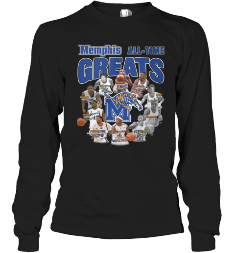 Memphis Tigers All Time Great Signatures T-Shirt Long Sleeved T-shirt