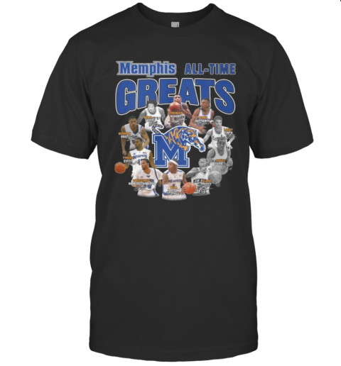 Memphis Tigers All Time Great Signatures T-Shirt