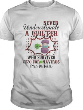 Never underestimate a quilter who survived 2020 coronavirus pandemic shirt