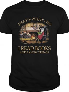 Rabbit thats what i do i read books and i know things black shirt