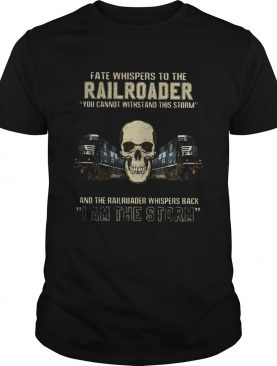 Skull fate whispers to the csx railroader you cannot withstand the storm and the railroad back i am