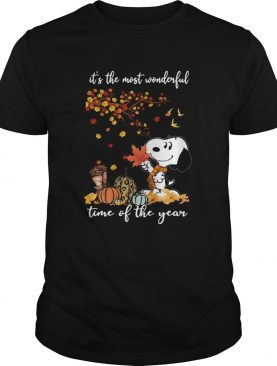 Snoopy Its The Most Wonderful Time Of The Year Halloween shirt