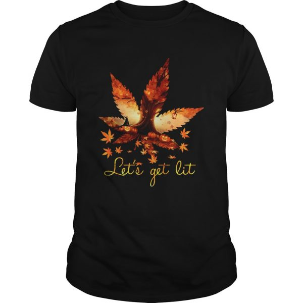 Weed Lets Get Lit Halloween shirt