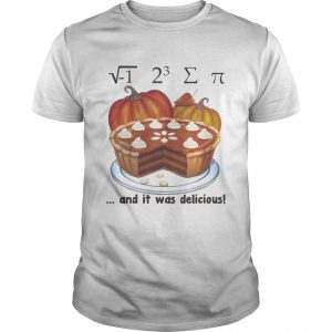 1 23and it was delicious cake pumpkin halloween shirt