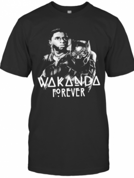 Black Panther Rip Chadwick Wakanda Forever Thank You For The Memories 1977 2020 Signature T-Shirt