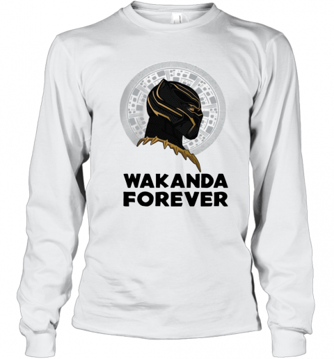 Black Panther Wakanda Forever Thank You For The Memories Signature T-Shirt Long Sleeved T-shirt