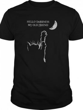 Halloween cat hello darkness my old friend shirt