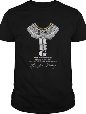 Hero Icon Dissenter RBG Ruth Bader Ginsburg 1933 2020 Thank You For The memories shirt