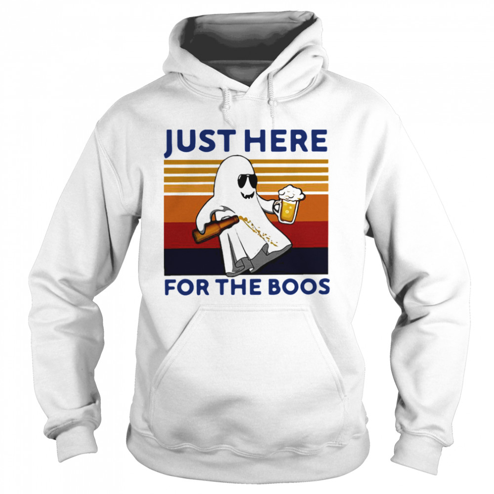 Just Here For The Boos Vintage Unisex Hoodie
