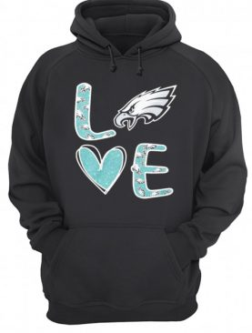Love philadelphia eagles football logo shirt