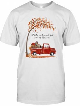 Nightmare Riding Car It'S The Most Wonderful Time Of The Year Leaves Tree T-Shirt
