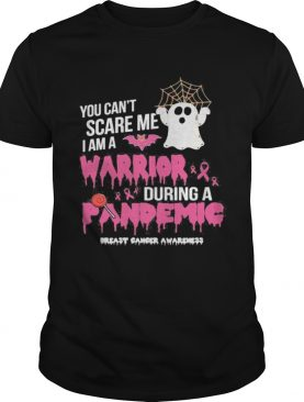 You cant scare me i am a nurse during a pandemic ghost halloween shirt