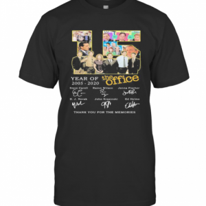 15 Year Of 2005 2020 The Office Thank For The Memories Signatures T-Shirt