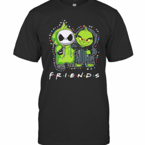 Baby Jack Skeleton And Baby Green Friends Light Christmas T-Shirt