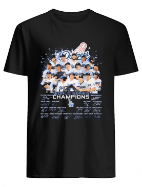 Dodgers MLB 2020 World series Champions player signatures shirt