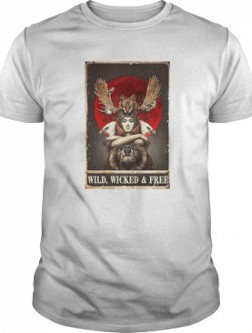 Funny Girl Animals Wild Wicked And Free shirt