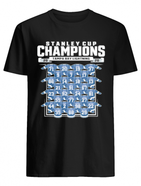 Good Tampa Bay Lightning 2020 Stanley Cup Champions Roster shirt