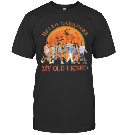 Halloween Witch Hello Darkness My Old Friend Moon T-Shirt Classic Men's T-shirt
