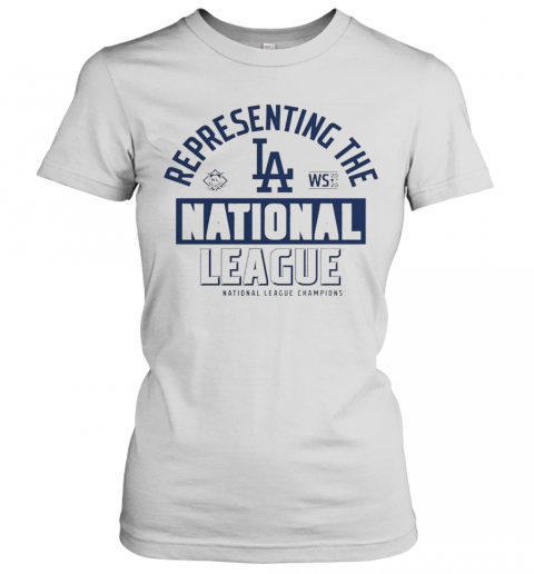 Los Angeles Dodgers Fanatics Branded 2020 National League Champions Locker Room T-Shirt Classic Women's T-shirt