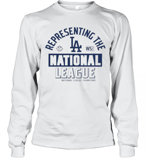 Los Angeles Dodgers Fanatics Branded 2020 National League Champions Locker Room T-Shirt Long Sleeved T-shirt