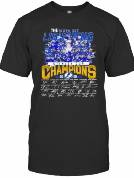 The Tampa Bay Lightning Stanley Cup Champions 2020 Signatures T-Shirt