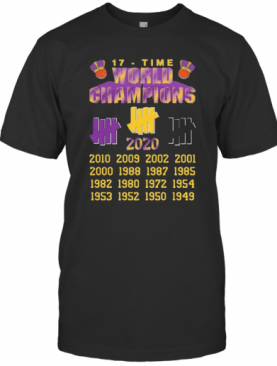 Undefeated Lakers 17 Time Champion T-Shirt