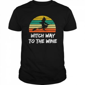 Womens Witch Way To The Wine Funny Witch Halloween Women shirt